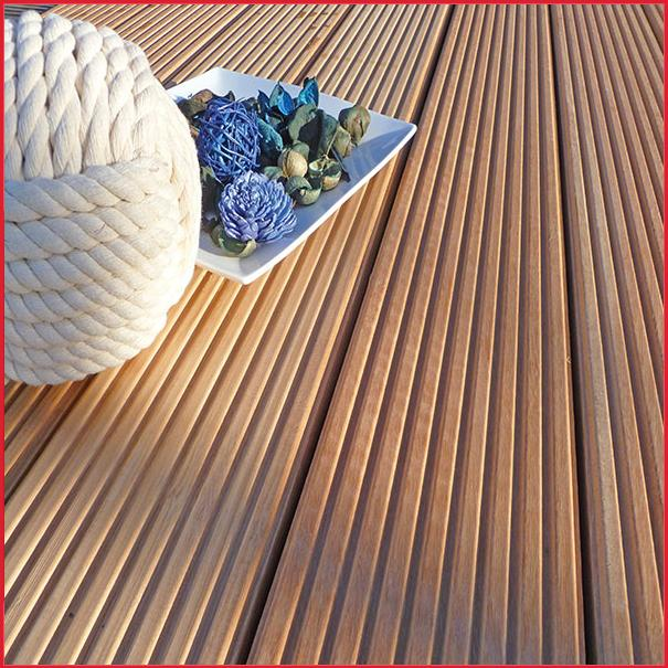 Reeded Castellated Yellow Balau Decking