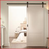 Häfele Rustic Flat Track Complete Set for Sliding Interior Doors