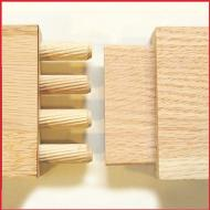 Wooden Dowels Pins Multi Grooved