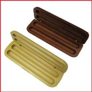 Planet Plus Double Wooden Pen Case