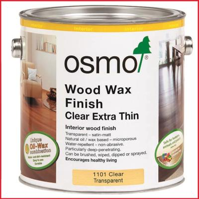 Osmo Wood Wax Finish Clear Satin Extra Thin 1101