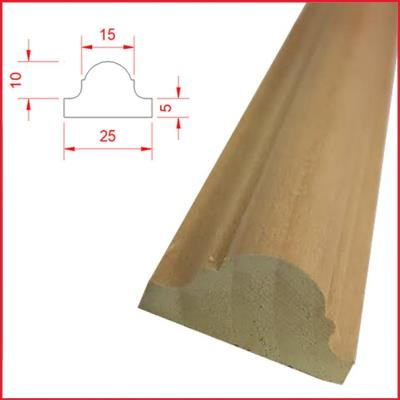 Astragal Tulipwood Timber Moulding 25mm x 15mm